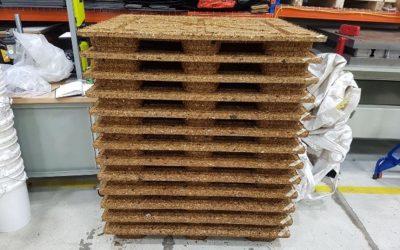 Innofibre : des palettes moulées fabriquées avec du bois de CRD